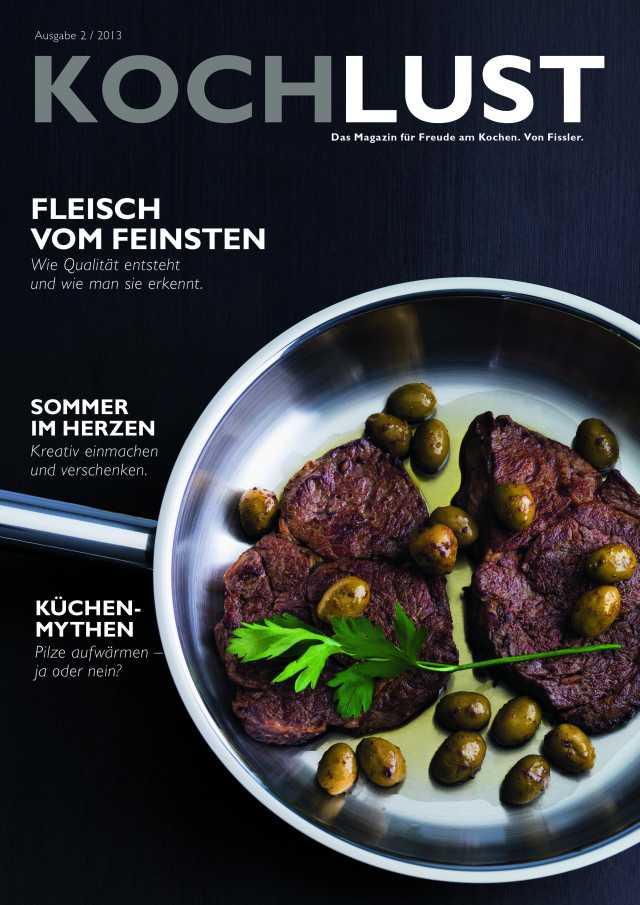 """Fissler-Magazin """"Kochlust"""" Ausgabe 6, Herbst 2013"""